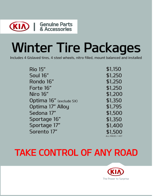 Winter Tire Special at Performance KIA