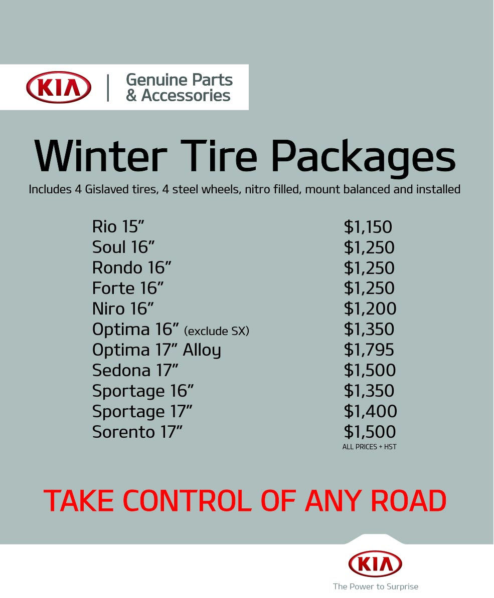 Winter Tire Packages, Performance Kia